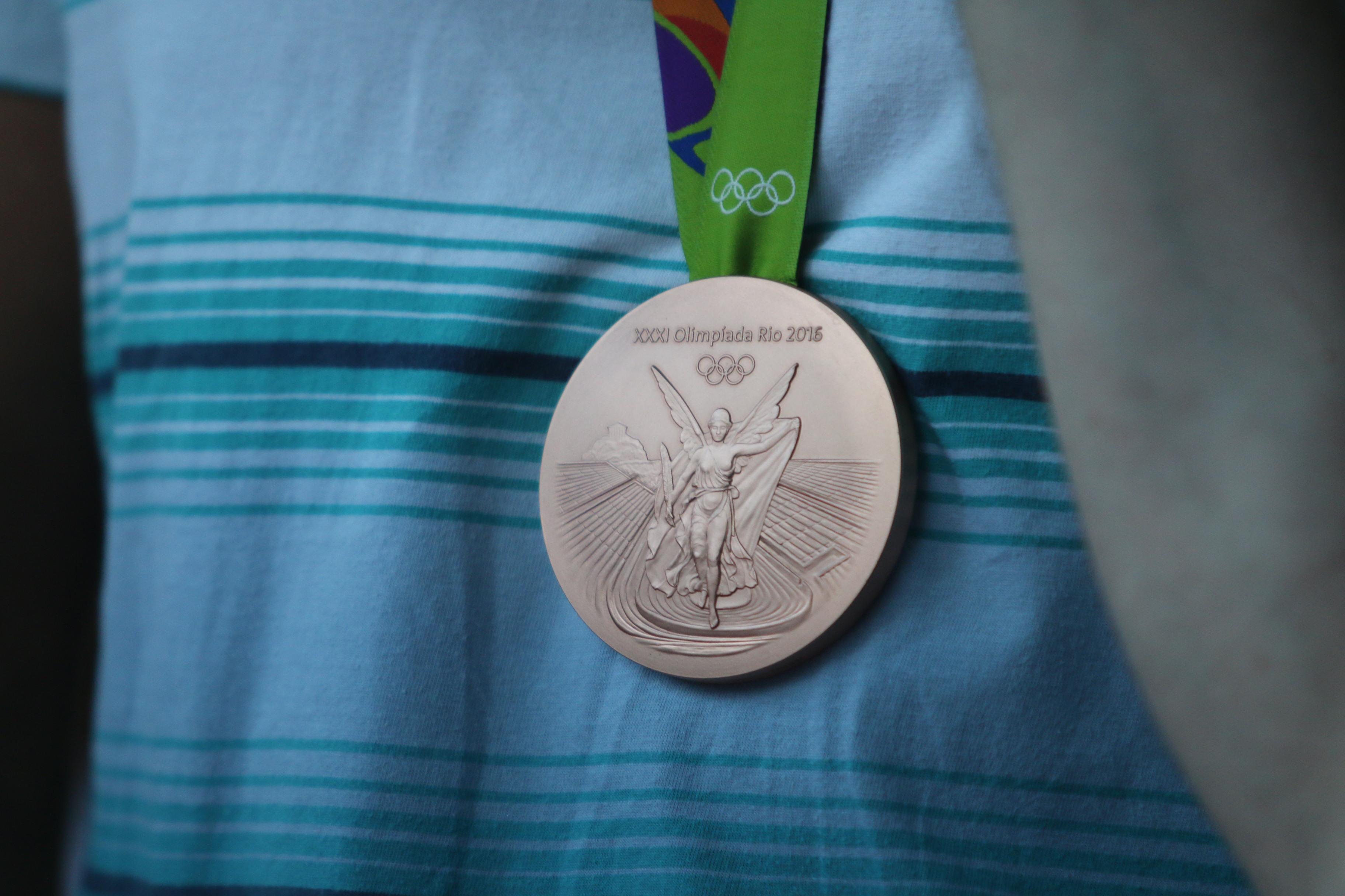 Das Ziel: Die olympische Medaille! (Foto: TV 01)