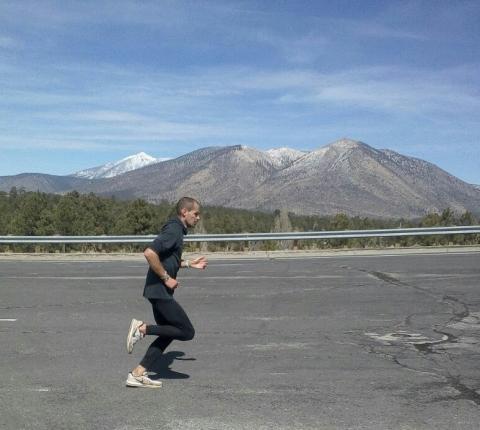Hendrik Pfeiffer in Flagstaff beim Training. (Foto: TV01)