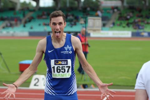 Florian Colon-Marti jubelt über 400 m-Silber! (Foto: TV01)
