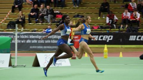Keshia Kwadwo (li.) startet in Bielefeld. (Foto: TV01)