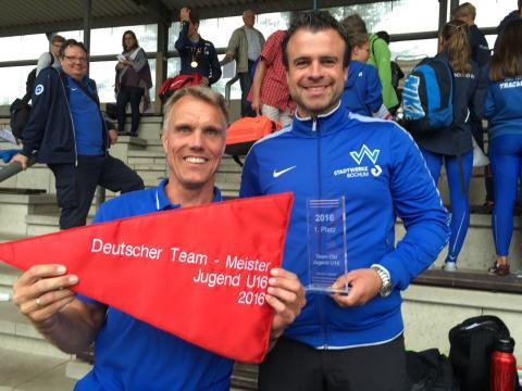 Die Trainer Michael Donath (WJ U16) und Sebastian Kraus (MJ U16). (Foto:privat)