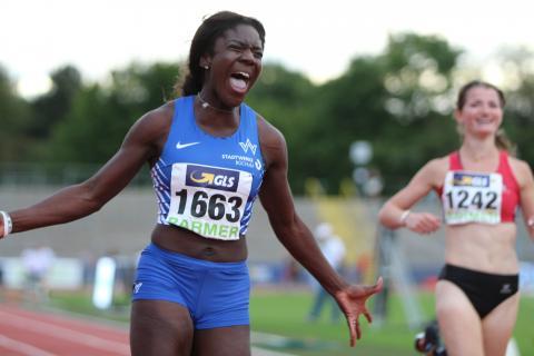 Keshia Kwadwo rennt mit Bestzeit zum U20-Titel. (Foto: TV01)