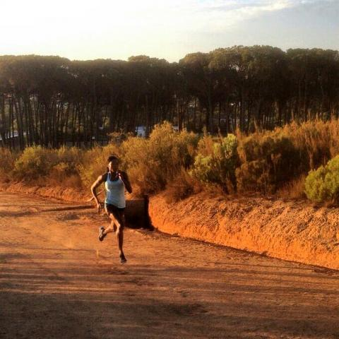 Sosthene Moguenara in Stellenbosch (Südfrika).
