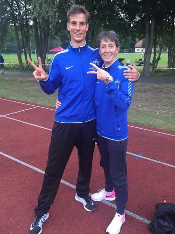 Armin Treichel zusammen mit Trainerin Sabine Braun (Foto: privat)